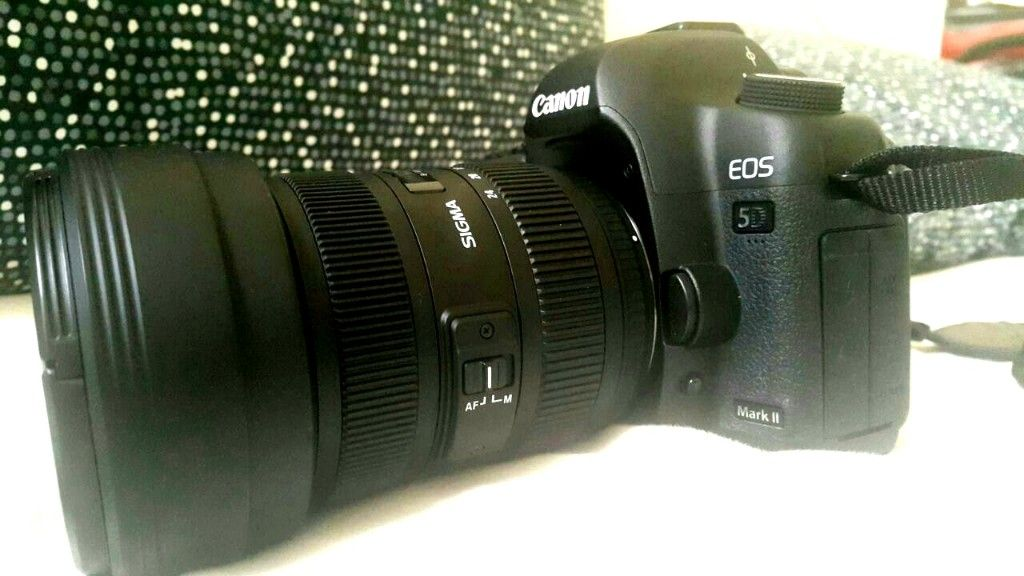 Canon EOS 5d mark II with Lens Sigma